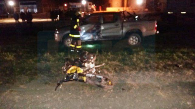 Motociclista sufrió heridas graves al chocar con una camioneta en la Ruta 131