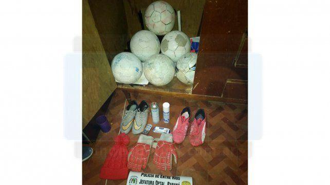 Madre entregó los elementos que su hijo había robado en un club deportivo barrial