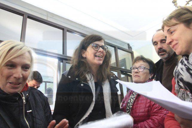 Sabrina Gullino en el juzgado federal de Paraná.