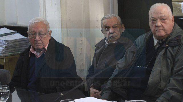 Jorge Rossi, David Vainstub y Miguel Torrealday, los acusados en el juicio por robo de bebés.