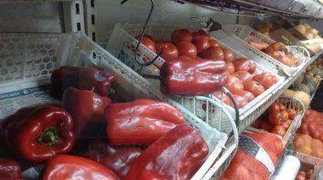 Por las nubes. El kilo de pimiento rojo cuesta casi lo mismo que un kilogramo de asado.