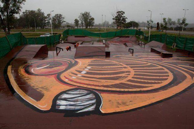 El dorado va tomando color en el skatepark de Concordia.