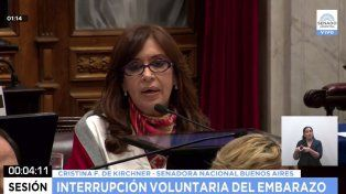 Cristina: Defiendo la vida cada vez que me opongo a políticas de restricción y de precarización derechos