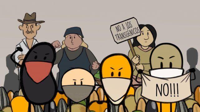 Una imagen de la producciónSemillas en Resistencia.