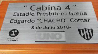 Reconocimiento del club Patronato a Edgardo Chacho Comar