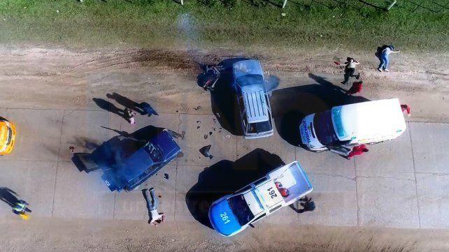 Alumnos de un colegio hicieron una videodramatización de un accidente de tránsito digno de difundir