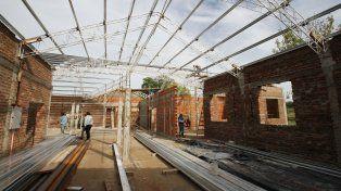 La gestión de Bordet exhibe las obras en escuelas como una prioridad de gobierno