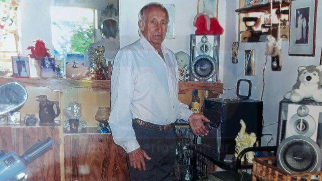 La víctima. El abuelo fue asesinado a sangre fría por su nieto