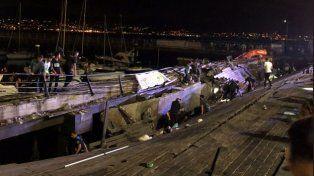 España: 377 heridos al derrumbarse un muelle de madera durante un concierto