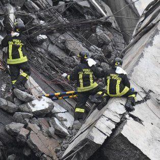 Ya son 22 los muertos por el derrumbe de un puente en Génova