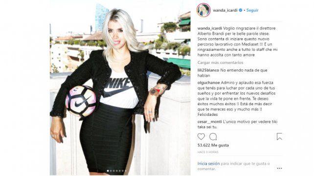 Wanda será comentarista de fútbol