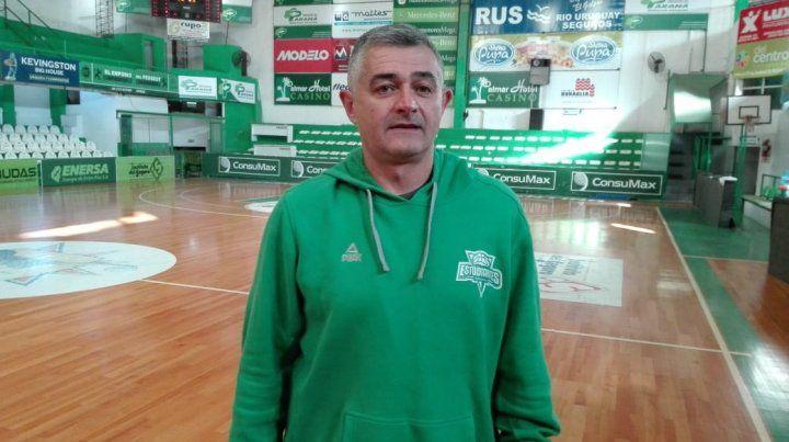 Objetivo. El técnico llega de dos temporadas en Argentino de Junín y buscarán ser competitivos.