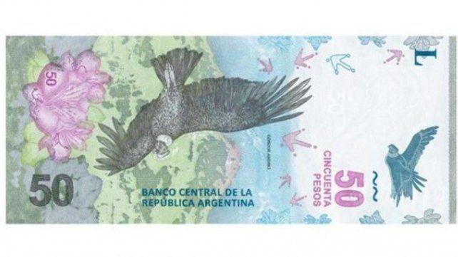 El cóndor: Así es el nuevo billete de $ 50 que comenzó a circular
