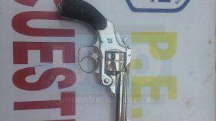 Robada. El arma fue sustraída de una vivienda del barrio Rocamora.