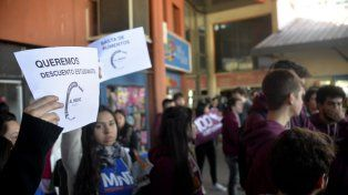Movilizados. Jóvenes reclamaron igualdad de condiciones