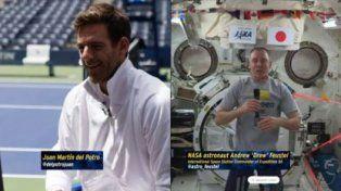La charla entre Del Potro y un astronauta que jugará en el espacio