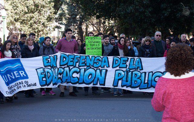 Movilización en Concepción del Uruguay