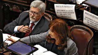 Irónica. La senadora Kirchner disparó hacia la gestión de Mauricio Macri. Foto: La Nación