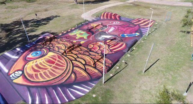 Una imagen tomada desde el dron.