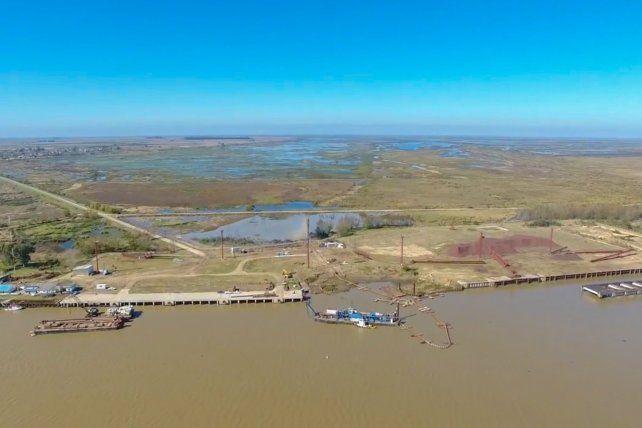 La imagen aérea del complejo.