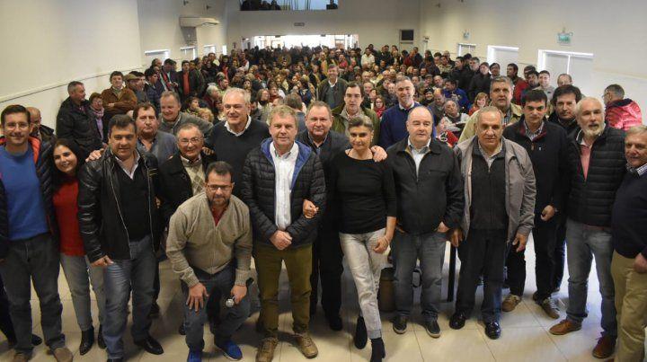 Unidad. Hubo varios sectores radicales en el encuentro de Villaguay