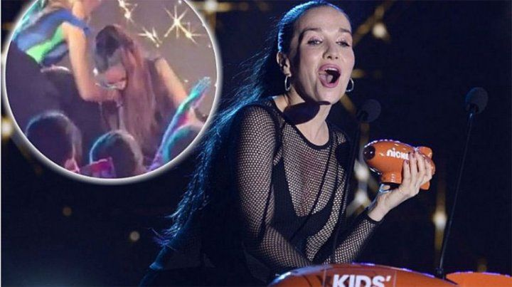 Así fue la terrible caída de Natalia Oreiro en una entrega de premios