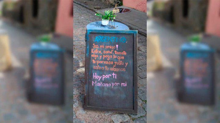 Restaurante uruguayo se solidariza con los argentinos: Pagá lo que esté a tu alcance