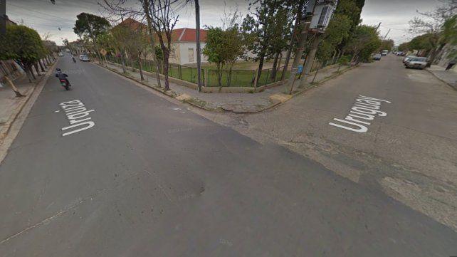 La esquina en donde se produjo el trágico accidente.