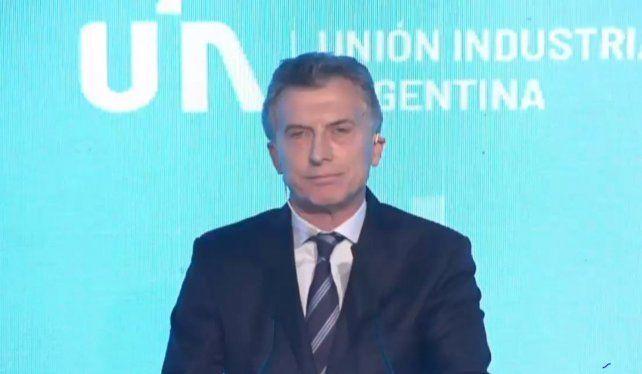 Mauricio Macri, en la UIA: Tengo claro cuál es el camino para salir de esta tormenta