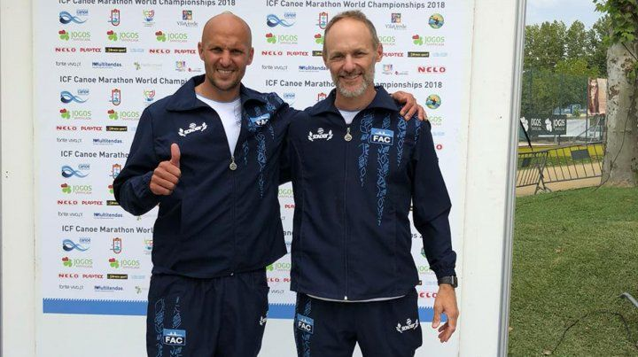 Los hermanos Caffa, campeones del mundo en canotaje