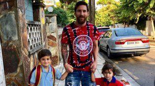 Alejado de la selección, Messi disfruta de su familia