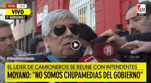 Moyano apuntó a los peronistas dialoguistas y dijo que ellos no son chupamedias del Gobierno