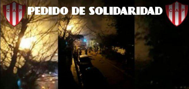 En el club Paraná juntan donaciones para la familia que perdió la casa en un incendio