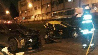 Pavoroso. El exjugador xeneize conducía a gran velocidad y destrozó la parte trasera del taxi y sesgó dos vidas.
