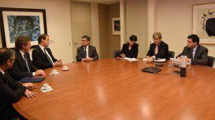 Agenda de trabajo. El gobernador mantuvo contactos con empresarios y funcionarios norteamericanos.