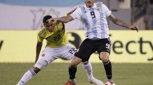 Argentina igualó sin goles ante Colombia en Nueva Jersey