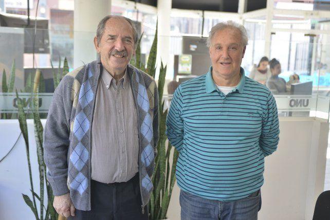 Impulsores. Juan Carlos Borrás y Néstor Meglio son los ideólogos del reencuentro Azul y Negro.
