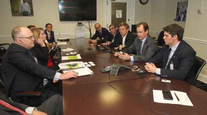 Las reuniones en Estados Unidos.