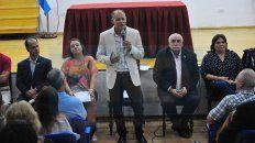 Foto UNO Archivo. El contador Sabella en el auditorio Rodolfo Walsh lanzando su candidatura para rector de la UNER. 18/4/2018.