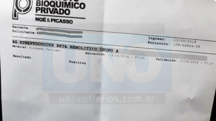 Advierten sobre un caso de angina bacteriana en Paraná
