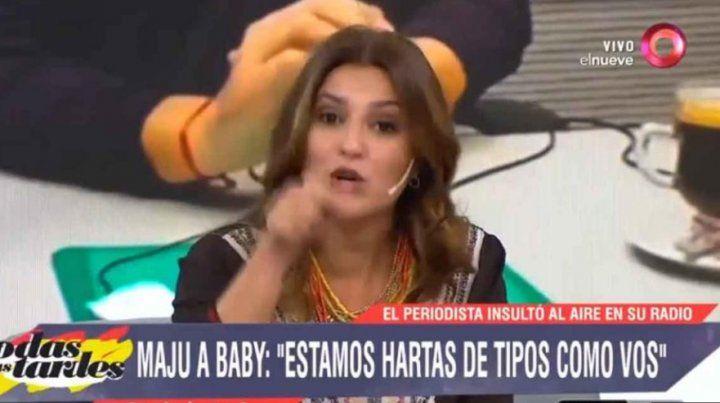 Maju Lozano a Baby Etchecopar: Sos un cerdo, estamos hartas de tipos como vos