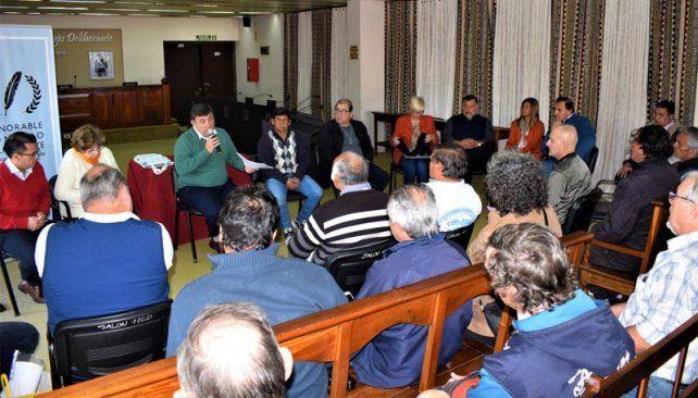 Sorpresa. Scévola participó de la presentación de la ordenanza se realizó en el Concejo Deliberante.