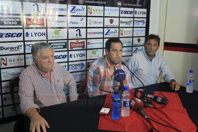 Pumpido en la conferencia de prensa