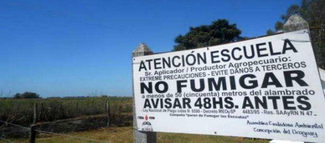 Prohíben la fumigación aérea en un radio de tres mil metros de las escuelas rurales
