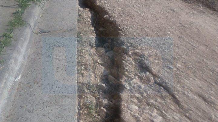 La provincia colabora con Diamante por el desmoronamiento de la barranca