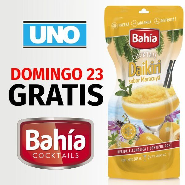 GRATIS: Cocktail Bahía, este domingo con UNO