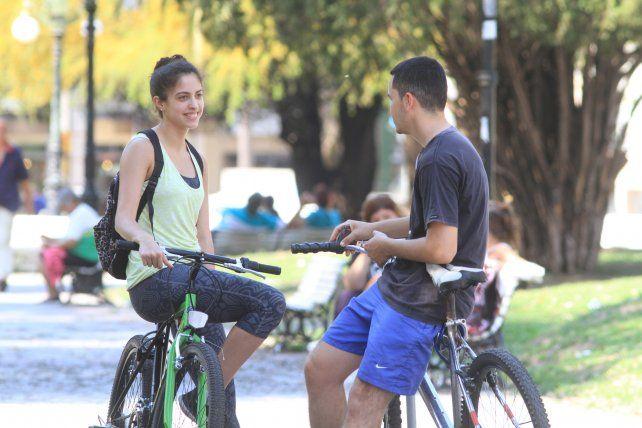 Ambos eligieron la bici como medio de transporte.