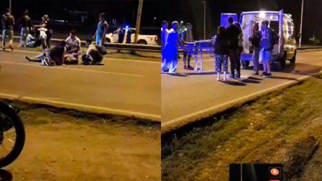 Madrugada con varios accidentes y heridos en Paraná