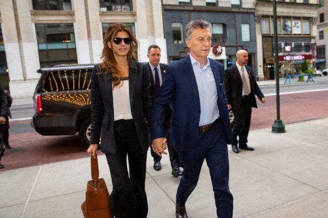 El presidente Macri junto con Juliana Awada en New York.