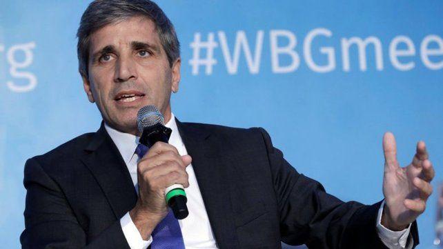 Renunció el presidente del Banco Central, Luis Caputo